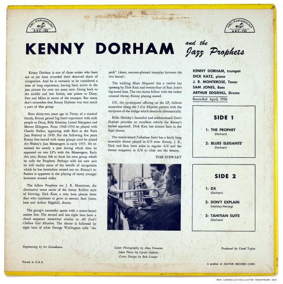 Kenny Dorham and the Jazz Prophets Vol.1(1956) | LondonJazzCollector