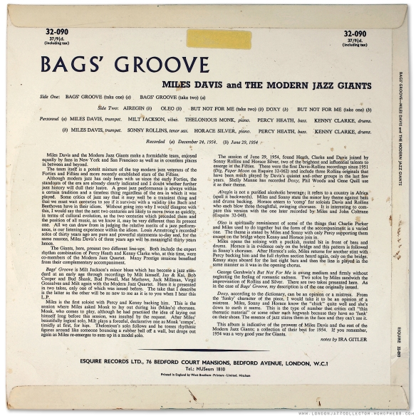 Miles Davis - Bags' Groove - Amazon.com Music