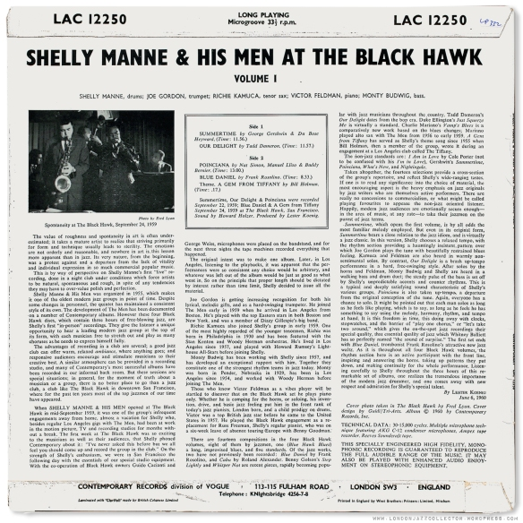 Shelly Manne At The Blackhawk 1960 Londonjazzcollector