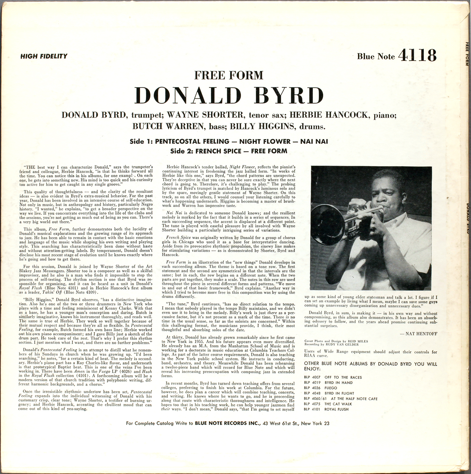 Donald Byrd Free Form 1961 Londonjazzcollector