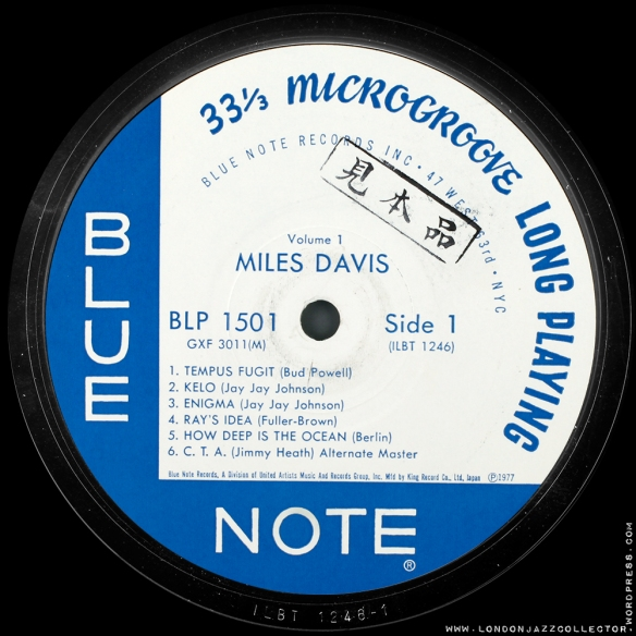 Miles-Davis-test-pressing-King-1000-LJC