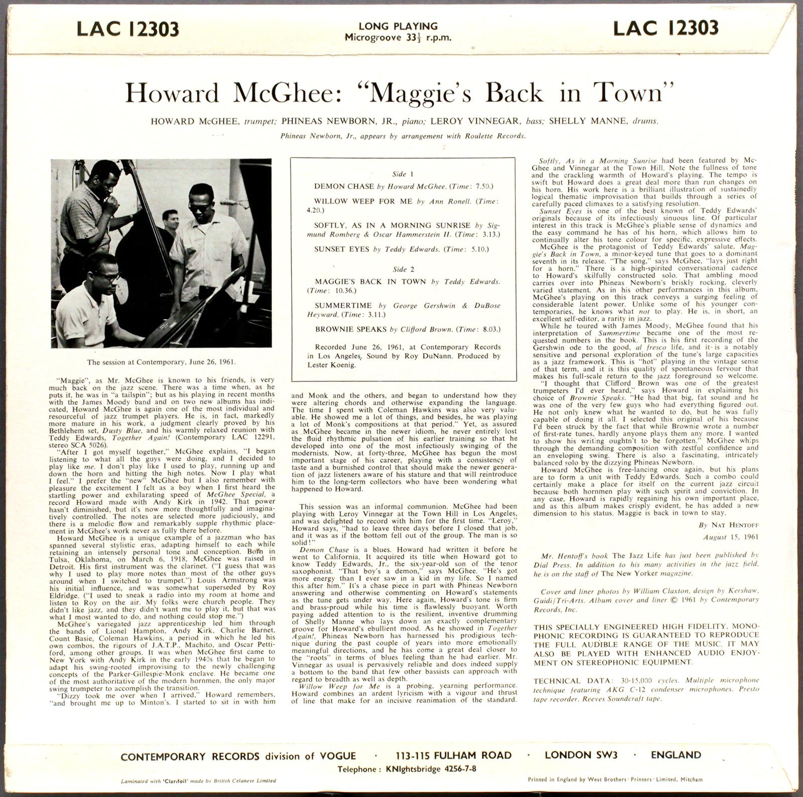 ¿AHORA ESCUCHAS?, JAZZ (2) - Página 40 Howardmcghee-maggie-rearcover1600
