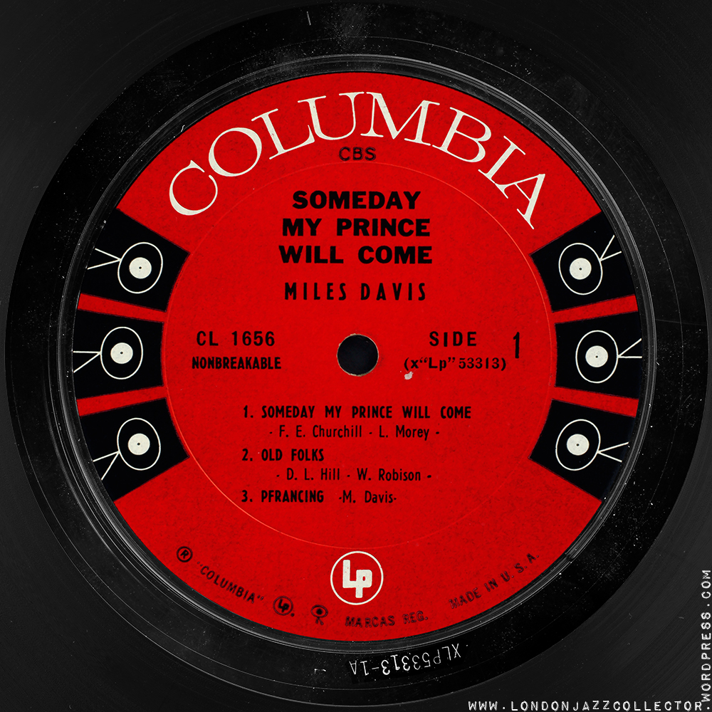 Miles Davis Sextet Some Day My Prince Will Come 1961 Londonjazzcollector