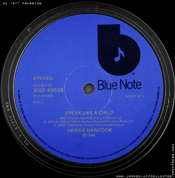 BLUE-NOTE-UK-1977-UAR-LTD-label-1000-LJCHancock-speak-like-a-child-s1
