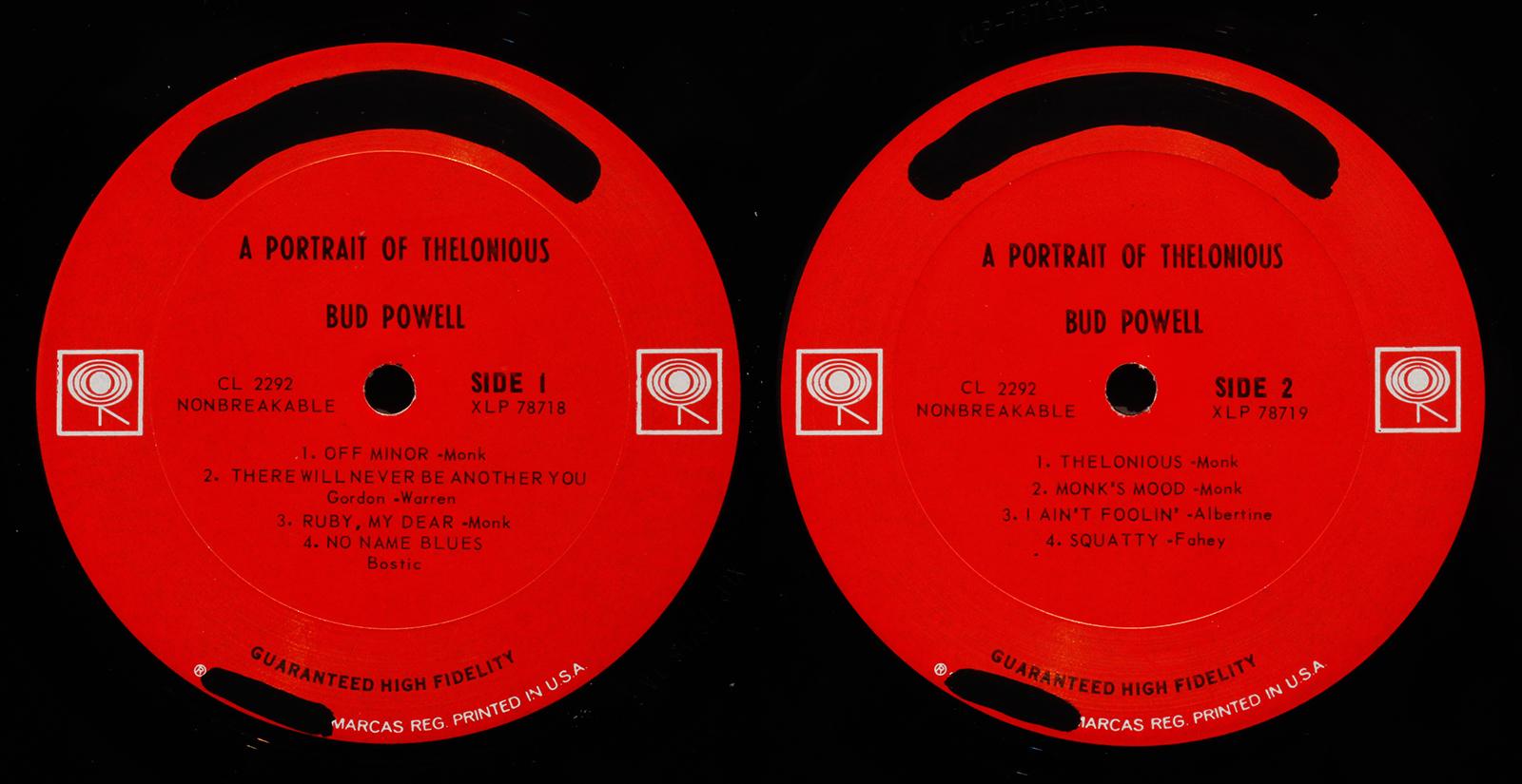 Bud Powell Portrait Of Thelonious 1961 Columbia
