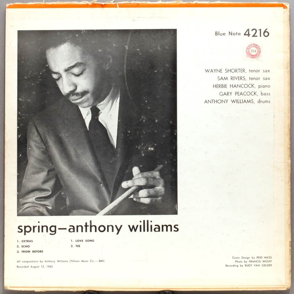 Anthony Williams Spring 1965 Blue Note Londonjazzcollector