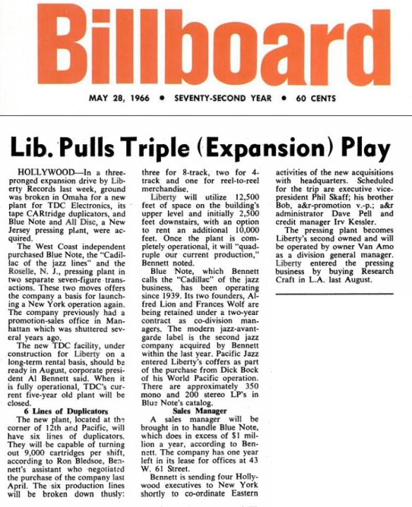Billboard May 28, 1966 Liberty All DiscCapture