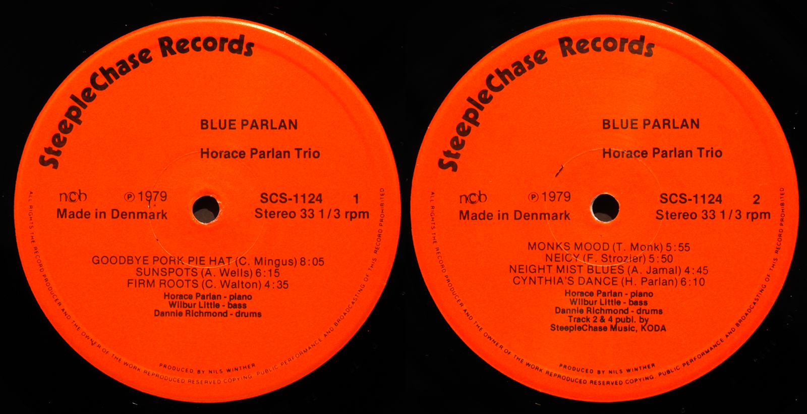Horace Parlan Blue Parlan 1979 Steeplechase