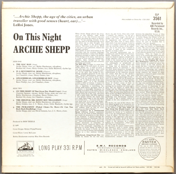 CLP6531-Archie-Shepp-On-This-Night-back-1600