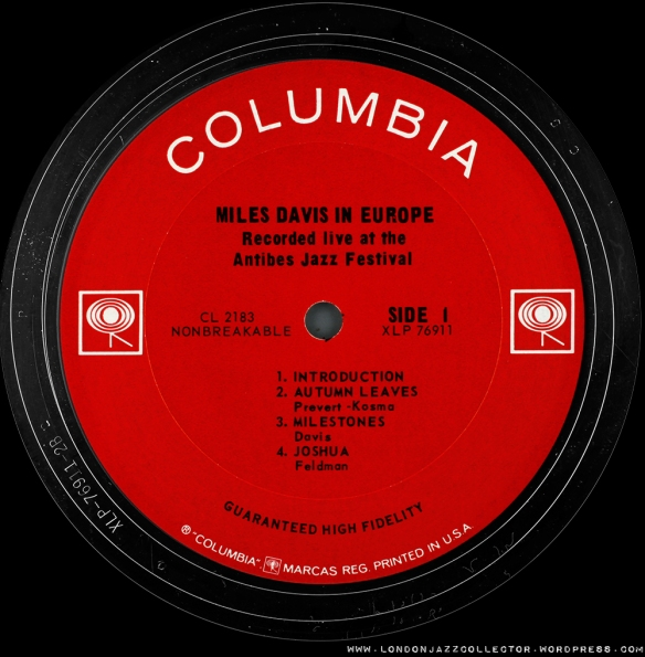 Columbia Us Labels Londonjazzcollector