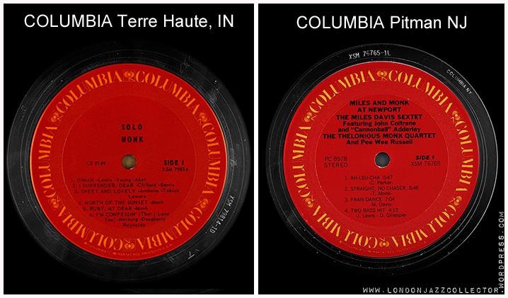 Columbia Us Labels Londonjazzcollector