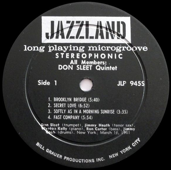 Don Sleet Jazzland Stereo JLP 945S..