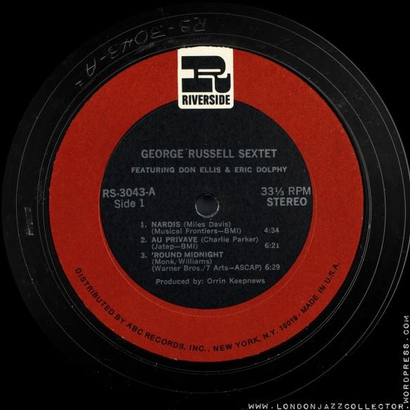 Russel sextet Riverside stereo s1 1000 LJC