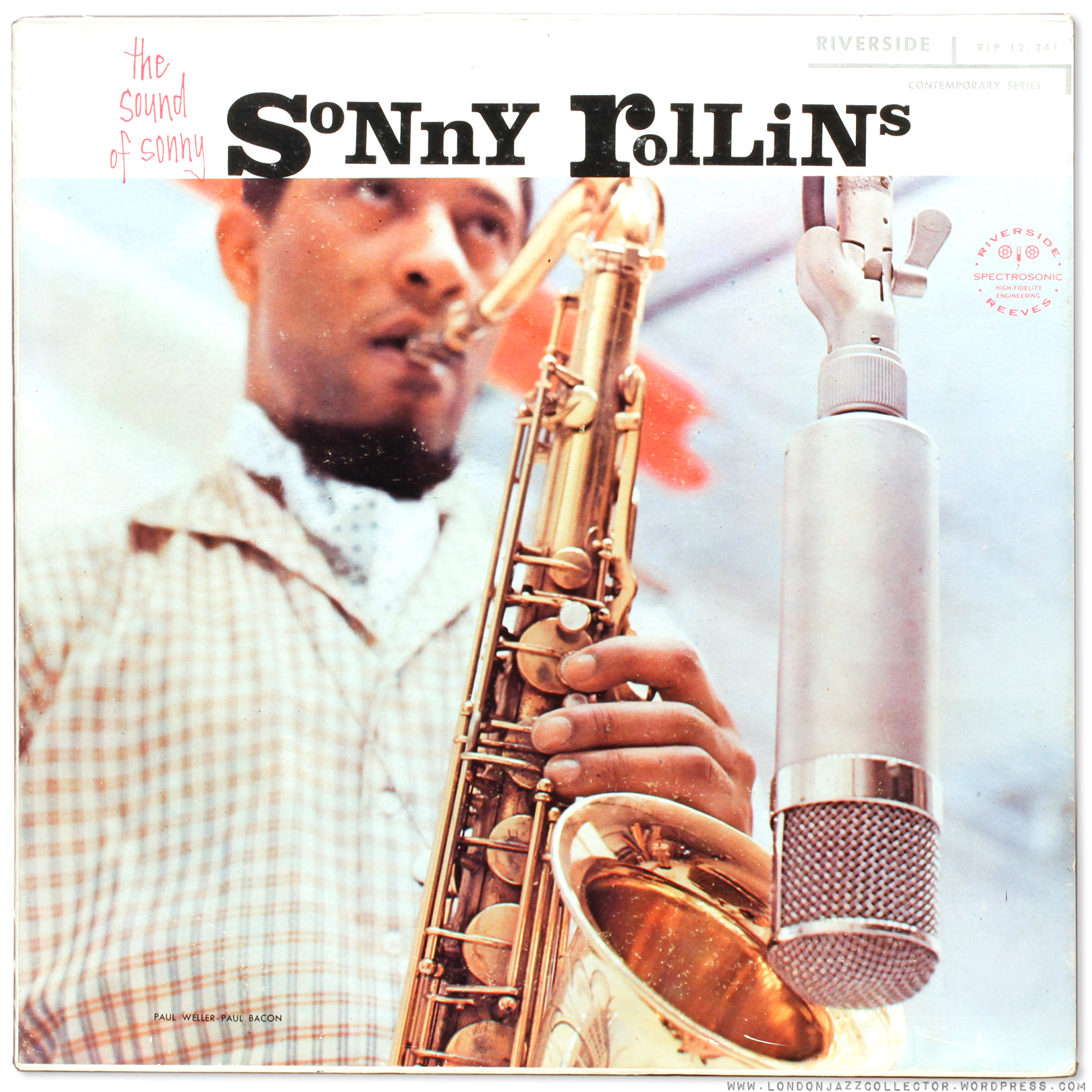 Sonny Rollins The Sound Of Sonny 1957 Uk Riverside