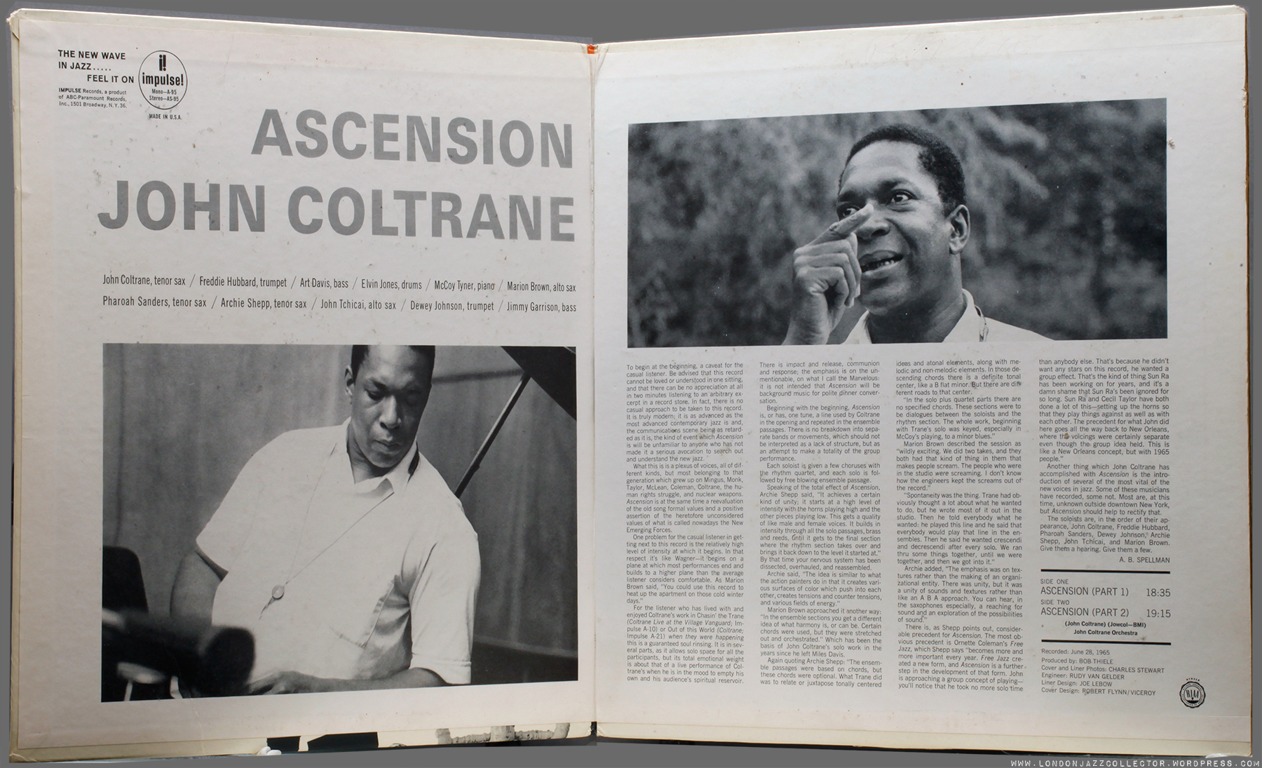 John Coltrane Ascension 1965 Impulse Londonjazzcollector