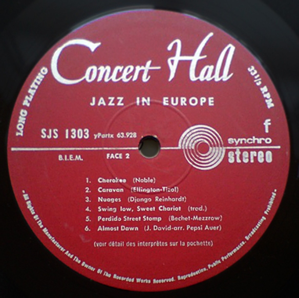 Concert Hall Jazztone label 800