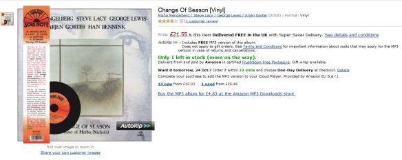 Change of Season CD Capture