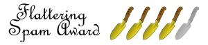 five-trowels spam award