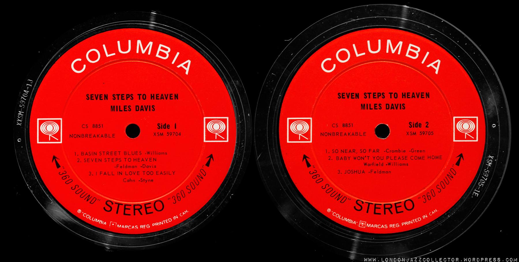 Miles Davis Seven Steps To Heaven 1963 Columbia
