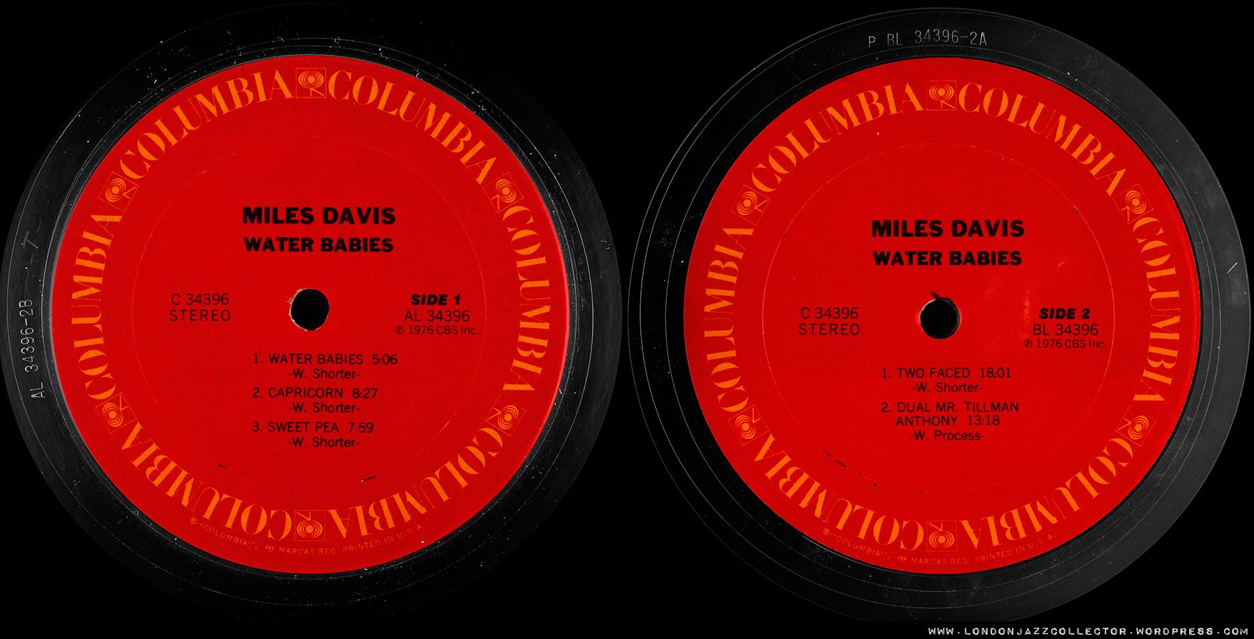 Miles Davis Water Babies 1967 Columbia