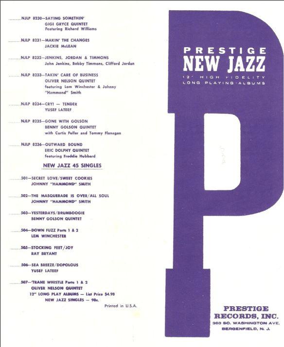 Prestige New Jazz 1