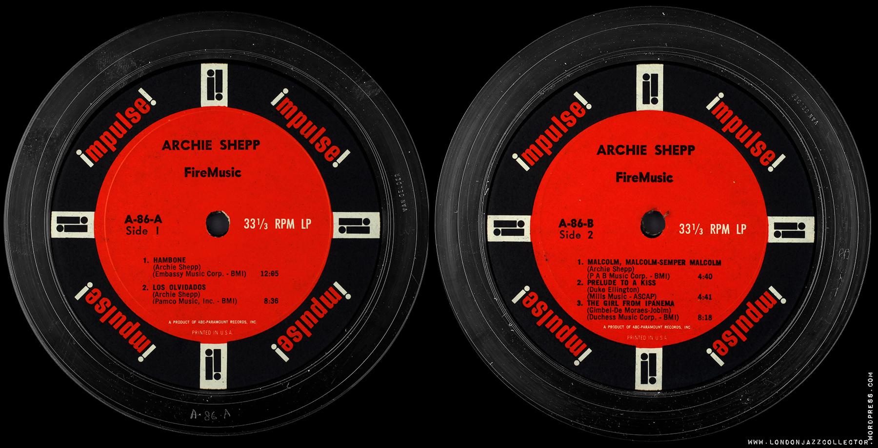 Archie Shepp Fire Music 1965 Impulse Londonjazzcollector