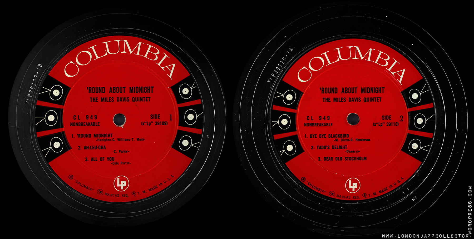 Miles Davis Round About Midnight 1956 Columbia