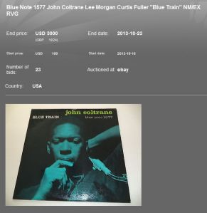 Coltrane Blue Train 3000 USD Capture