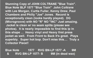 Coltrane Blue Train 3000 USD Capture2