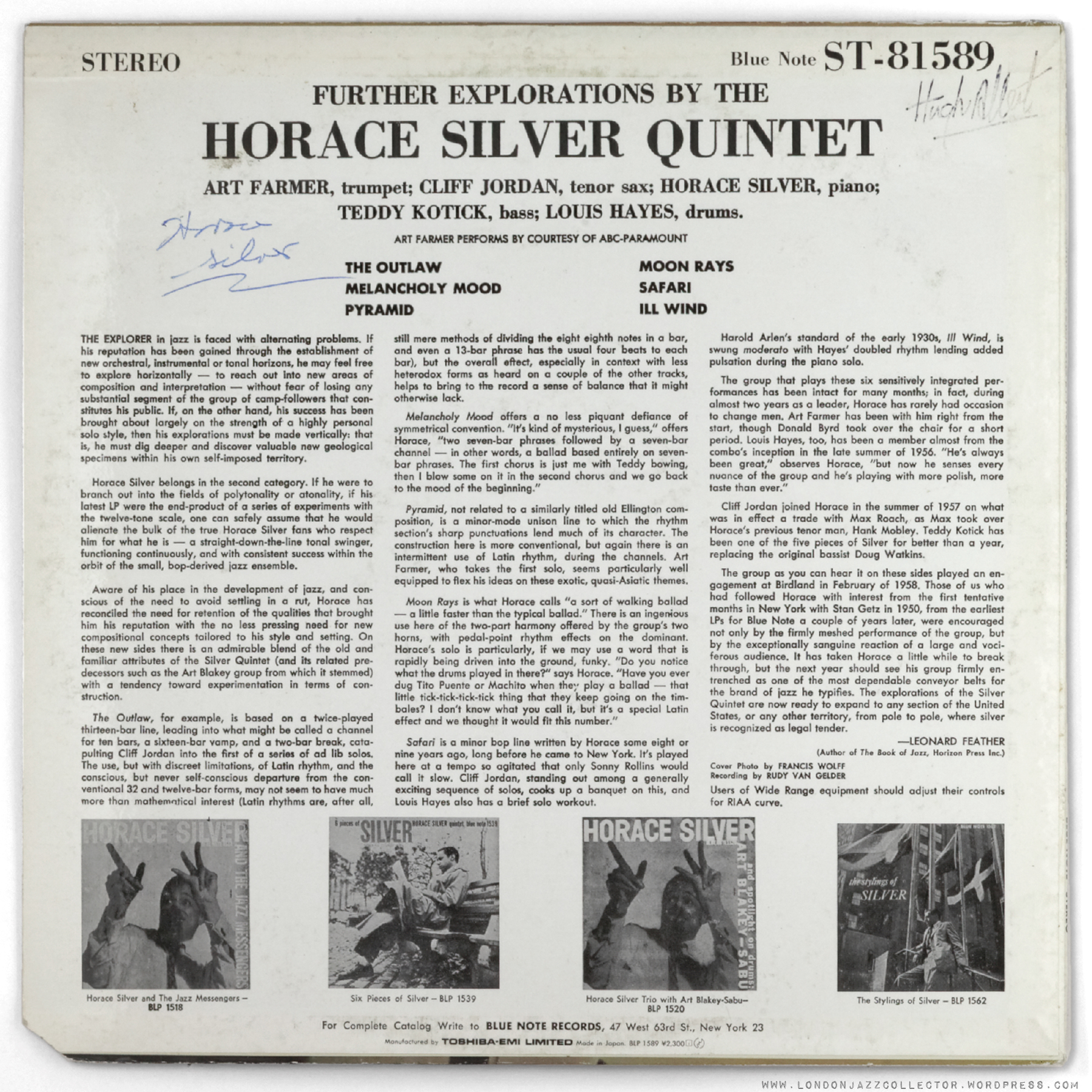 Horace Silver Quintet, The & Horace Silver Trio, The - Blowin' The Blues Away