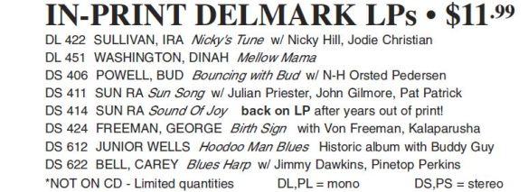 In Print Delmark LPs