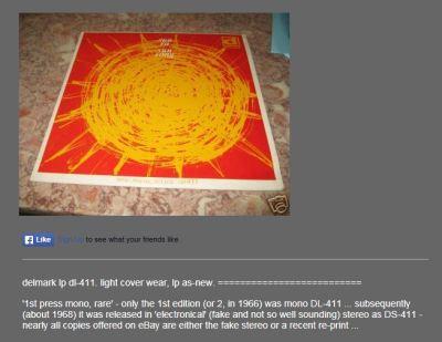 Sun Song original $59