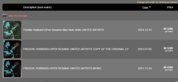 Popsike BN 4040 Hubbard Open Sesame United Artists