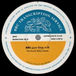 BBC Jazz Club transcription disc