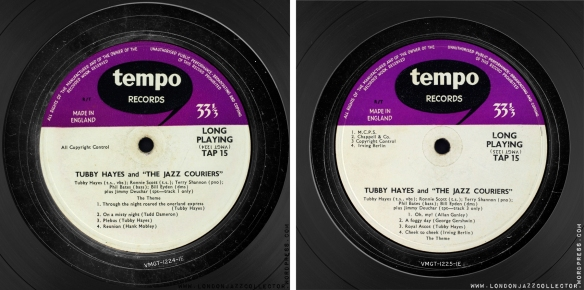 Tubby-Hates-and-the-Jazz-Courriers-Tempo-1957-labels-1800-LJC