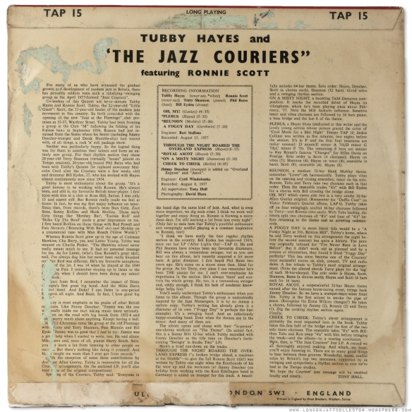 Tubby-Hayes-Jazz-Courriers-with-Ronnie-Scot-Tempo-Tap15-rearcover-1800-LJC