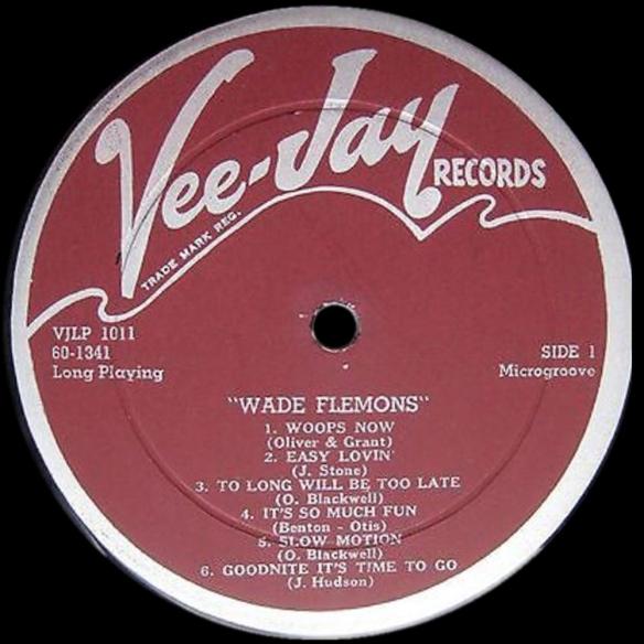 Vee-Jay maroon labels (2)