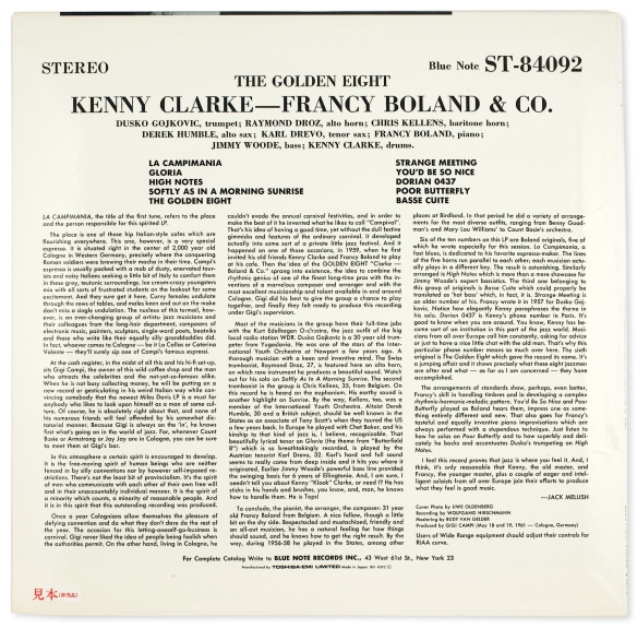 Kenny-Clarke-Francey-Boland-Golden-Eight-back-2000-LJC