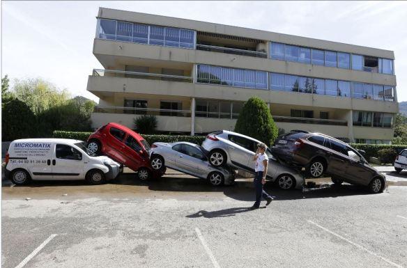 Mandelieu storm cars