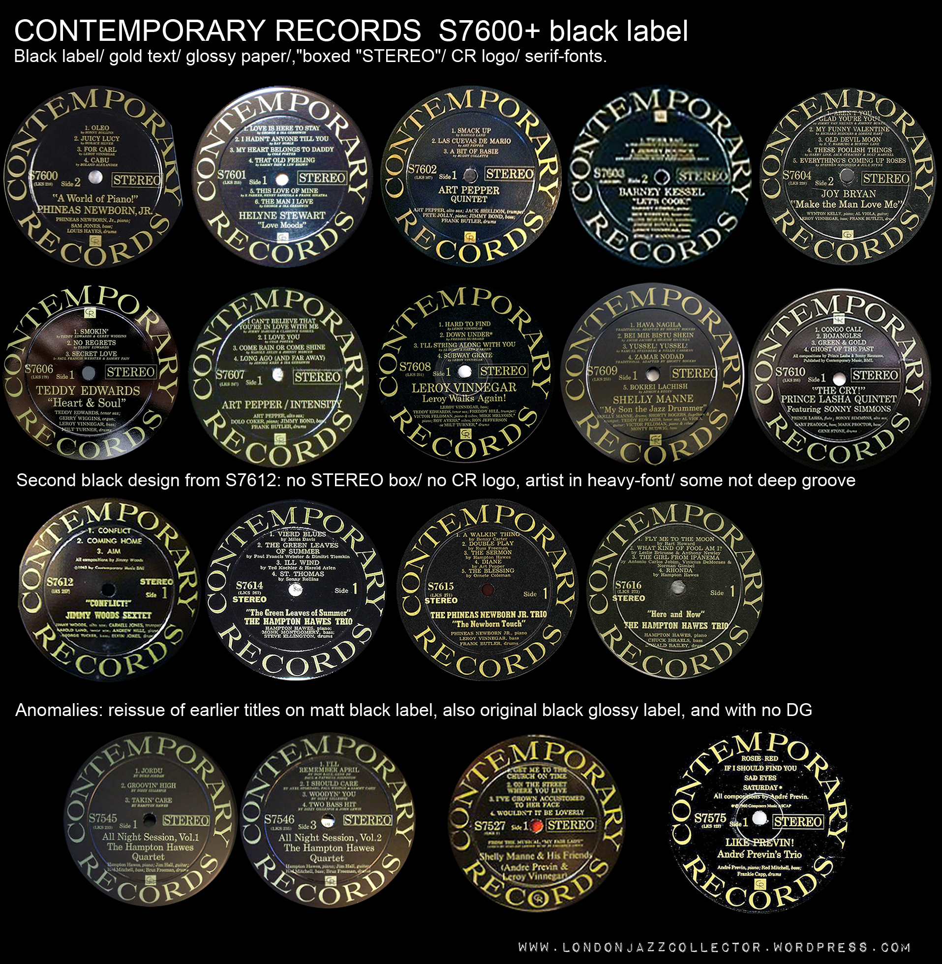 Contemporary Labels By Title, Complete Reference Set
