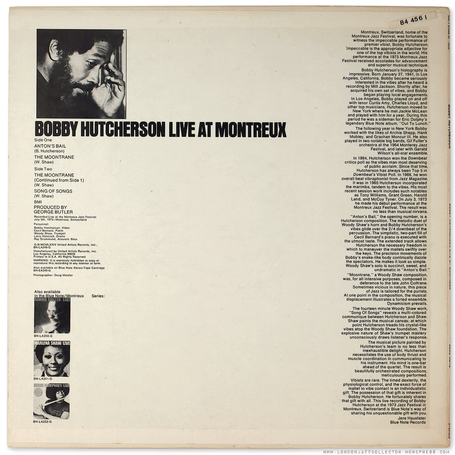 Bobby Hutcherson Cookin With Blue Note At Montreux 1973