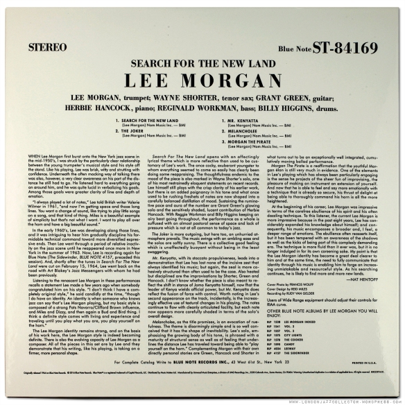 Lee Morgan In Search Of The New Land 1964 Blue Note