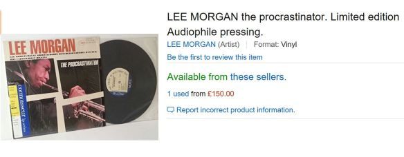 lee-morgan-the-procrastinator-connoisseur-amazon-150-gbp