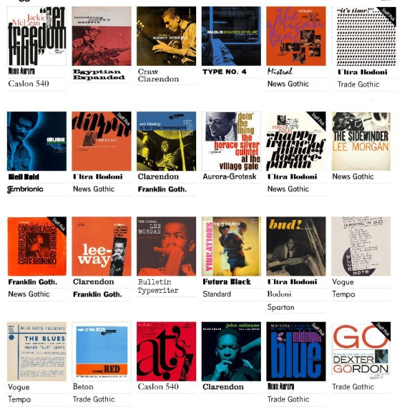 Fonts In Use Blue Note Reid Miles