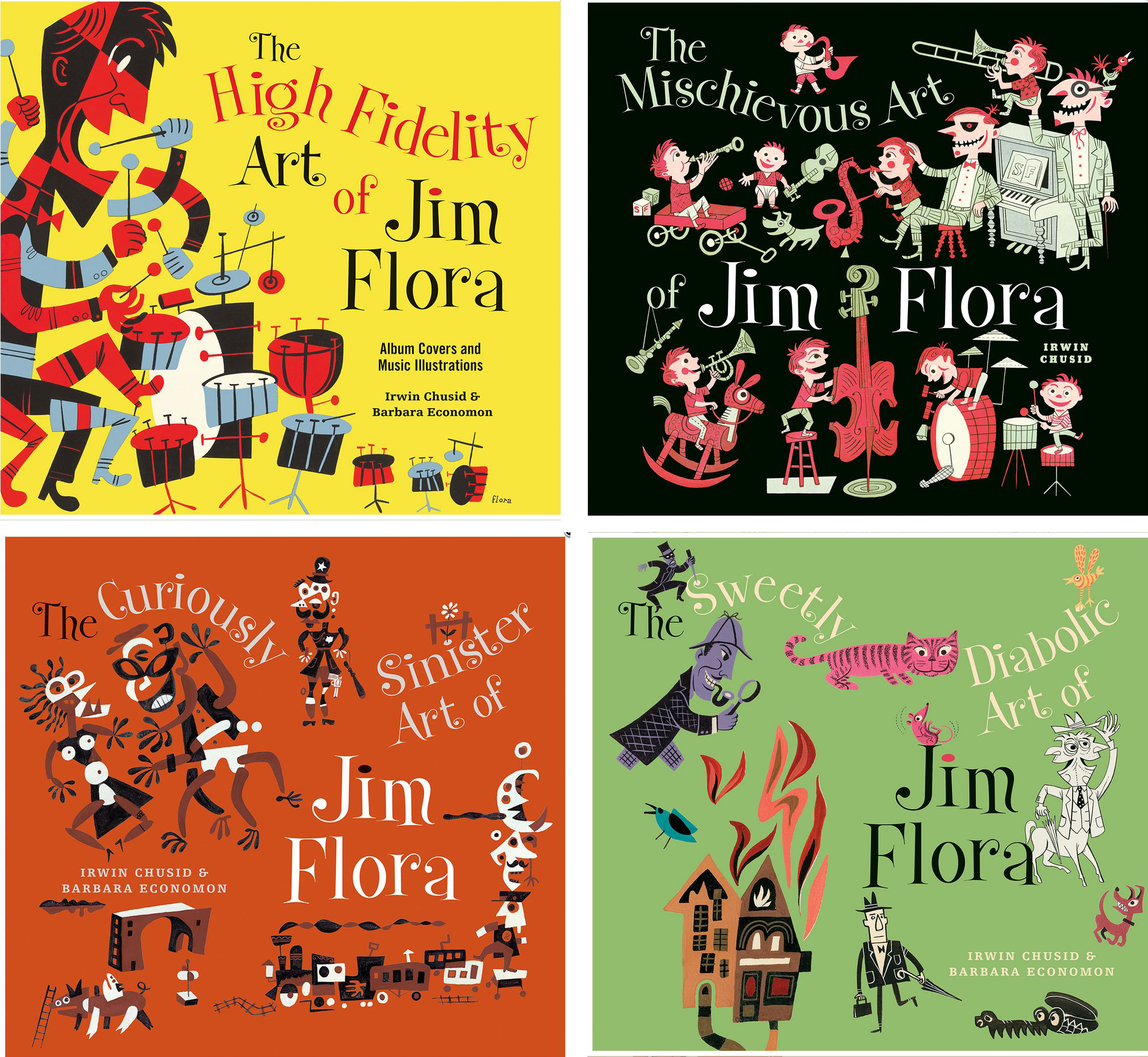 Coffee Book Album: Jim Flora: The Genius Of The One Square Foot Canvas